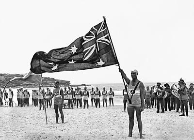 Bondi Photograph - The Flag On Bondi by Retro Images Archive