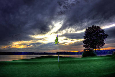 Tiger Woods Photograph - The Flag On Number 4 by Reid Callaway