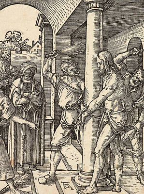 Whipping Wall Art - Painting - The Flagellation by Albrecht Durer