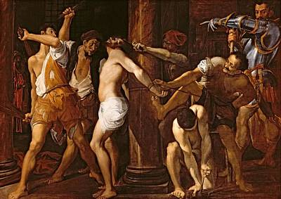 The Flagellation Of Christ, 1586-87 Oil On Canvas Art Print