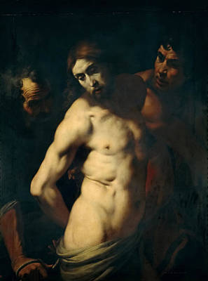 Flagellation Painting - The Flagellation Of Christ by Daniele Crespi