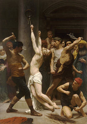 The Flagellation Of Our Lord Jesus Christ Print by William Bouguereau