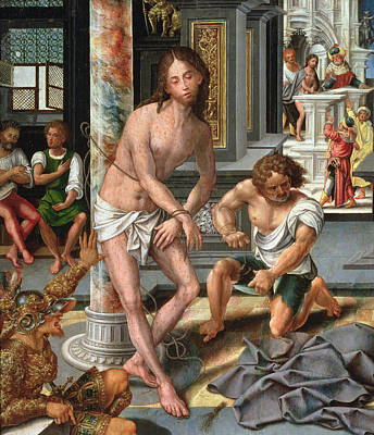 Marble Painting - The Flagellation by Pieter van Aelst