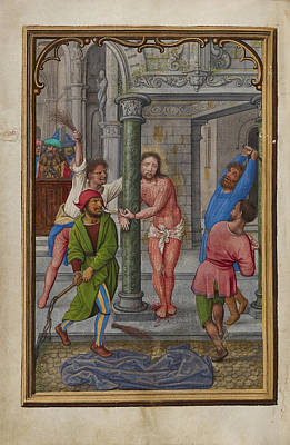 Flagellation Painting - The Flagellation Simon Bening, Flemish, About 1483 - 1561 by Litz Collection