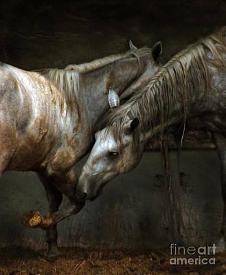 Grey Horse Digital Art - The Flamenco by Angel  Tarantella