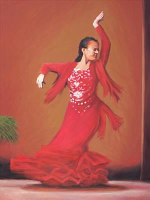 Charles Wallis Painting - The Flamenco Dancer by Charles Wallis