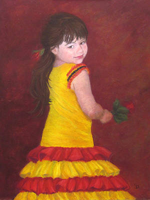 Dance Painting - The Flamenco Dancer by Stacey David