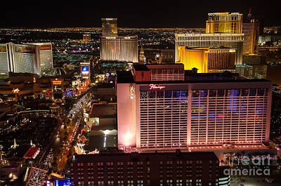 Photograph - The Flamingo And The Vegas Strip by Eddie Yerkish
