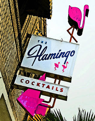 Cocktail Lounge Photograph - The Flamingo by Charlette Miller