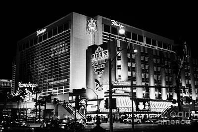 Flamingo Hotel Wall Art - Photograph - the flamingo hotel and casino Las Vegas Nevada USA by Joe Fox