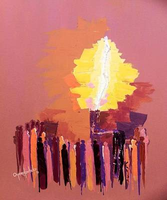 The Flare A Beacon Of Hope And Anguish Art Print