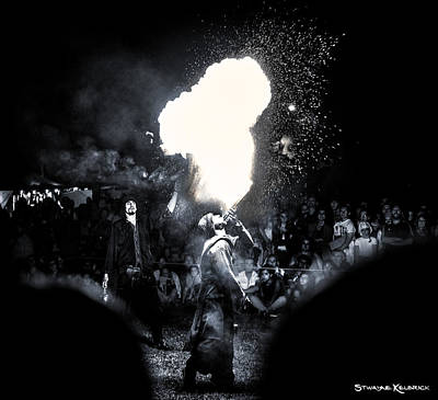 Photograph - The Flare Thrower by Stwayne Keubrick