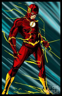Lightning Digital Art - The Flash by Alexiss Jaimes