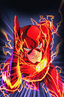 Dc Comics Drawing - The Flash by FHT Designs