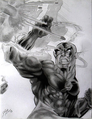 Drawing - The Flash by Luis Carlos A