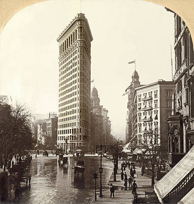 The Flatiron Building In Ny Print by Underwood Archives