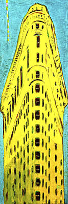 Painting - The Flatiron Building In Yellow by Habib Ayat