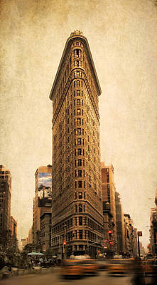 Traffic Digital Art - The Flatiron Building by Jessica Jenney