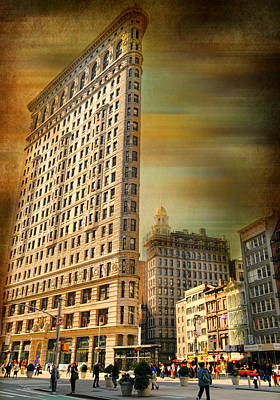 Flat Iron Building Photograph - The Flat Iron Building by Diana Angstadt