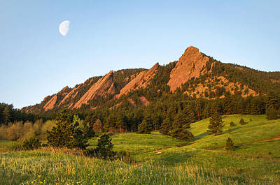 Mountain Royalty-Free and Rights-Managed Images - The Flatirons - Spring by Aaron Spong