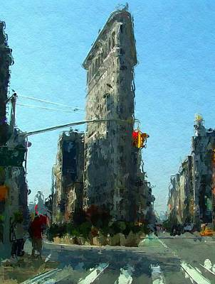 Big Apple Mixed Media - The Flatrion by Steve K