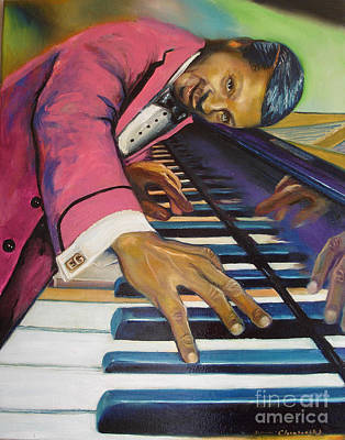 Painting - The Flavor Of Erroll Garner by Donna Chaasadah