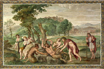 Painting - The Flaying Of Marsyas by Domenichino and Assistants