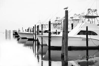 Oregon Inlet Photograph - The Fleet Awaits - Outer Banks by Dan Carmichael