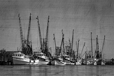 Shrimpboats Wall Art - Photograph - The Fleet by Debra and Dave Vanderlaan