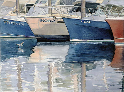 Cape Cod Harbors Painting - The Fleet by Heidi Gallo