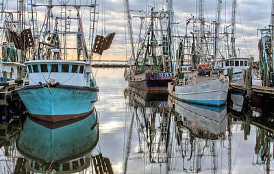 Fresh Shrimp Wall Art - Photograph - The Fleet by JC Findley