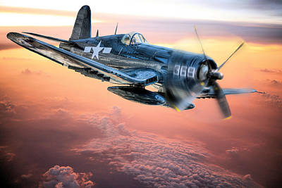Fighter Plane Photograph - The Flight Home by JC Findley