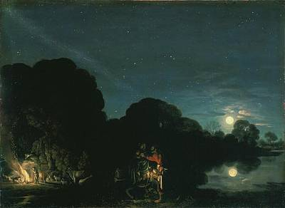 Painting - The Flight Into Egypt by Adam Elsheimer