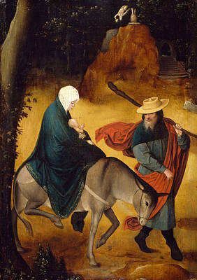 Painting - The Flight Into Egypt by Jan de Beer