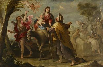 Narrative Painting - The Flight Into Egypt by Jose Moreno