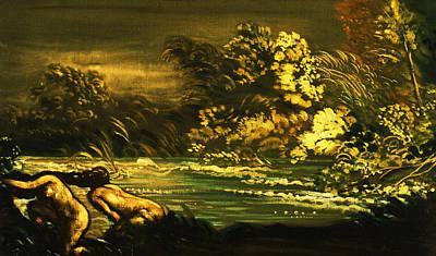 Raging Digital Art - The Flood by Arthur B Davies