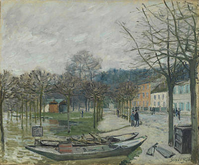 The Flood At Port-marly, 1876 Print by Alfred Sisley