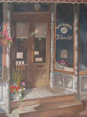Painting - The Florist by Tony Caviston