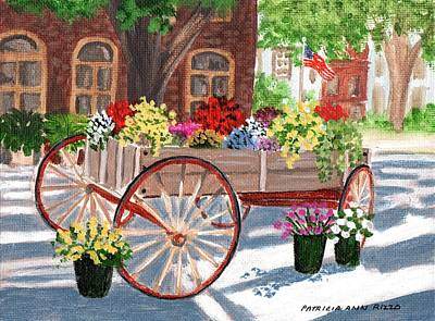The Flower Cart Art Print by Patricia Ann Rizzo