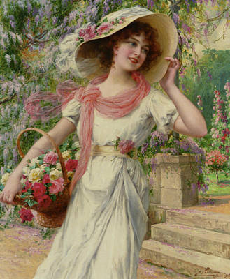 Digital Art - The Flower Garden by Emile Vernon