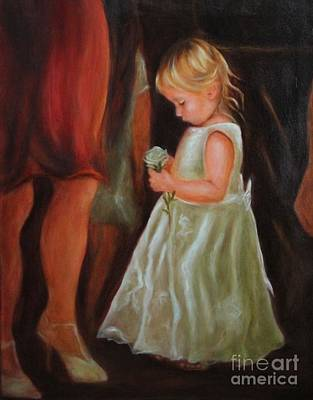 Painting - The Flower Girl by Kathy Lynn Goldbach
