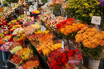 Photograph - The Flower Market by Allen Sheffield