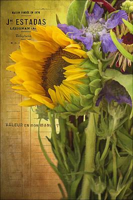The Flower Market Art Print by Priscilla Burgers