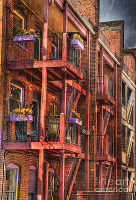 The Flower Pots On The Patio Art Print by Paul Ward