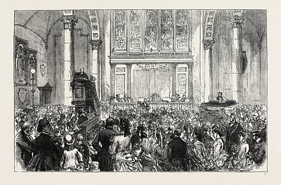 Sermon Drawing - The Flower Sermon In St. Catherine Cree Church by Litz Collection