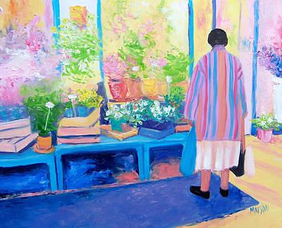 Pot Plants Painting - The Flower Shop  by Jan Matson