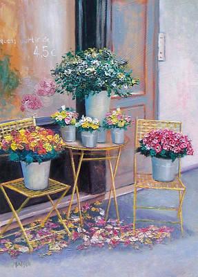 Flower Shop Painting - The Flower Shop Paris by Jan Matson