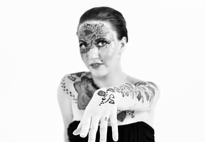 The Flower Tattoo  Art Print by Alex Pochinok