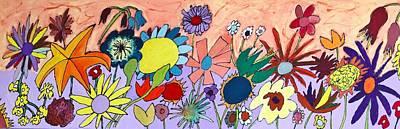 The Flowers Ran Away Art Print