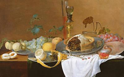 Lemon Painting - The Flute Of Wine  by Jan Davidsz de Heem
